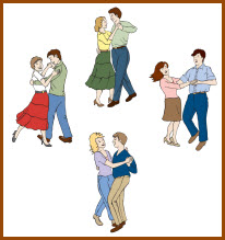 square and round dance clip art